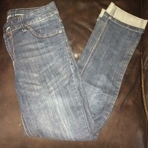 Dark Blue Straight Cut Jeans
